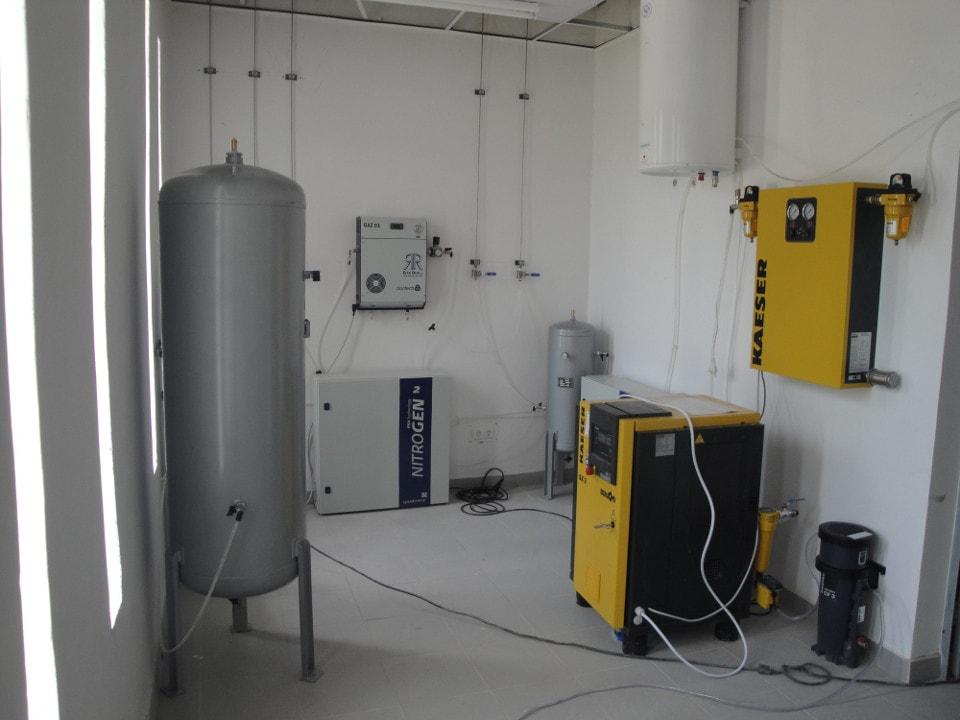 La sala de generación de gases del laboratorio agroalimentario de Santa Clara