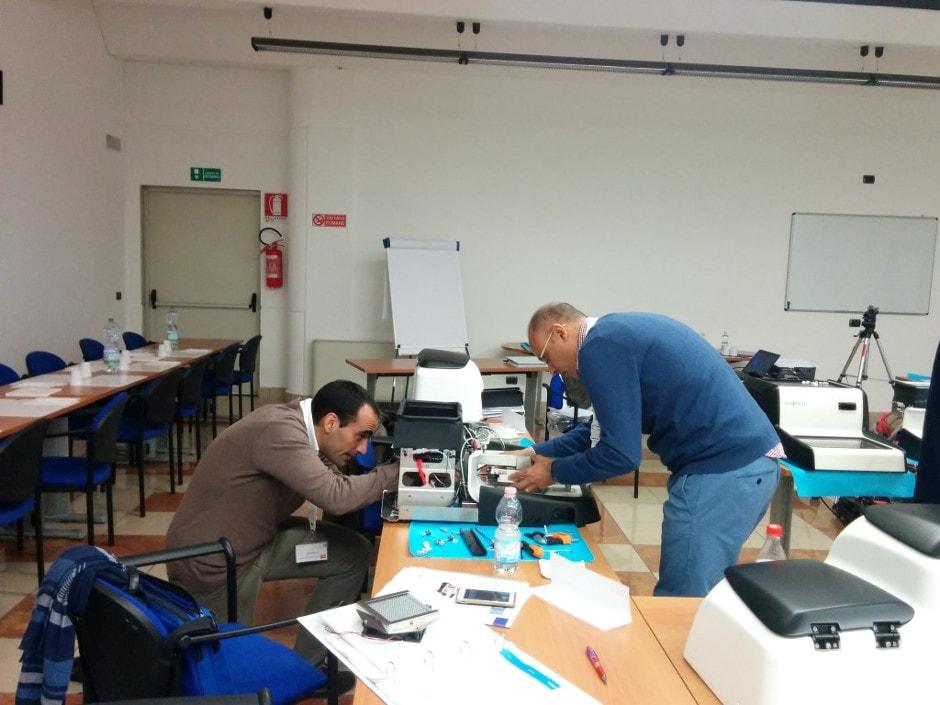 Los técnicos de ICSA durante el training sobre el Centro de Inclusión Canova