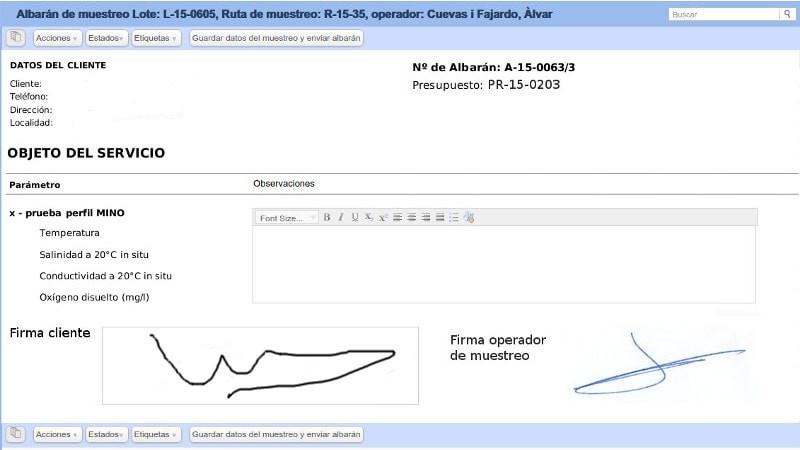 Sistema de Tracking de muestras de Nevis LIMS