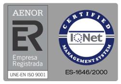 ICSA, cuenta con la certificación ISO 9001 de AENOR e IQNET